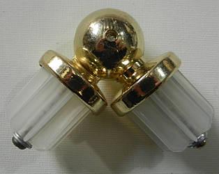 Соединитель угловой д. 25 мм, золото