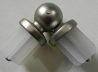 Соединитель угловой д. 25 мм, сатин