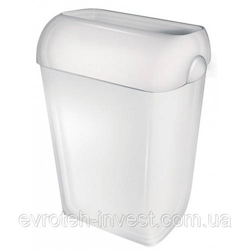 Престо Урна 43 литра с крышкой-ободом белая