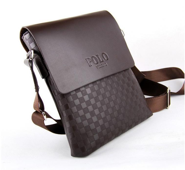 Мужская сумка через плечо Polo Videng Paris Барсетка Сумка-планшет+ в Подарок. Оригинал