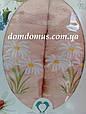 """Подарунковий набір рушників """"Ромашка"""" (банне+лицьове) TWO DOLPHINS, Туреччина персиковий, фото 2"""