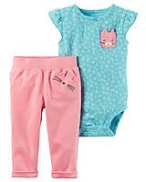 Нарядный комплект для девочки с кошечкой: боди с коротким рукавом и штанишки (24 мес)