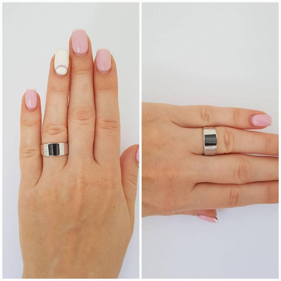 """Мужское серебряное кольцо """"41"""""""
