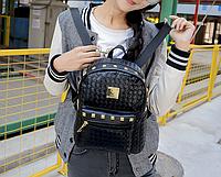 Рюкзак женский кожзам городской плетенный
