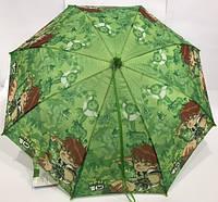 Детский зонт трость полуавтомат (12 цветов)