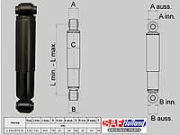 Амортизатор (оригинал SAF) L=491-315 2376007101, 2376007102