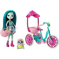 Enchantimals Набор Хобби на колесах Прогулка вдвоем Built for Two Doll Playset, Turtle & Tricycle