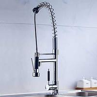 Палубные выдвижных распылителей с керамическим клапаном одной ручкой одно отверстие для хрома, смеситель для кухни 05311283
