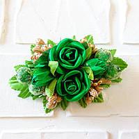 Заколки с Сахарные розы