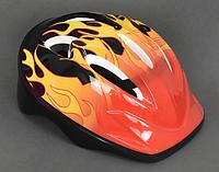 Шлем детский Стандарт защитный Темный/Огонь