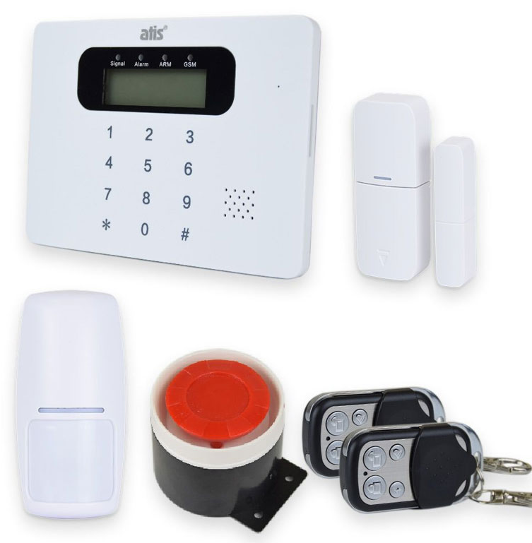 Комплект бездротової GSM сигналізації ATIS Kit-GSM100 з вбудованою клавіатурою