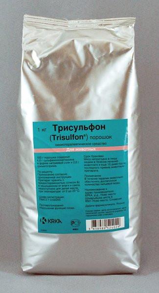 Трисульфон 48% KRKA (Словения) порошок 1 кг комплексный ветеринарный антибиотик широкого спектра действия