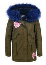 Куртки на меху для девочек оптом, Glo-Story, 134/140-170, арт. GSX-5615
