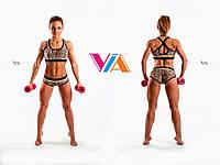 Топ и шорты VIA Cross  для занятий pole dance, фитнесом и в тренажерном зале