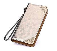 Женский золотистый портмоне-чехол для телефона
