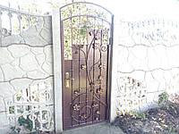 Калитка металлическая с элементами ковки