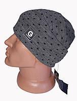Мужская вязанная шапка Genner горошек