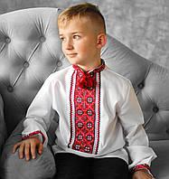 Вишиванки для хлопчиків (домоткане полотно, Онікс, ручна вишивка, 1-14 років)