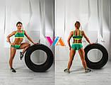 Топ и шорты VIA Summer для занятий pole dance, фитнесом и в тренажерном зале, фото 2