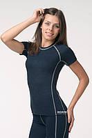 Термофутболка женская KIFA (ФЖО-17 Ш) Темно-синий с серой строчкой