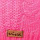 Комплект шапка и шарф (хомут) для девочки, р. 50-52, подкладка флис, 8400, фото 8