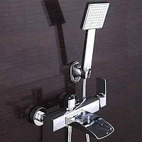 Современная ванна и душ водопад с керамическим клапаном одной ручкой два отверстия для хрома, ванной кран 05406099