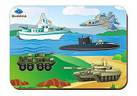 Деревянный вкладыш «Военная техника»