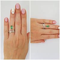 """Серебряное кольцо с камнями """"619"""""""