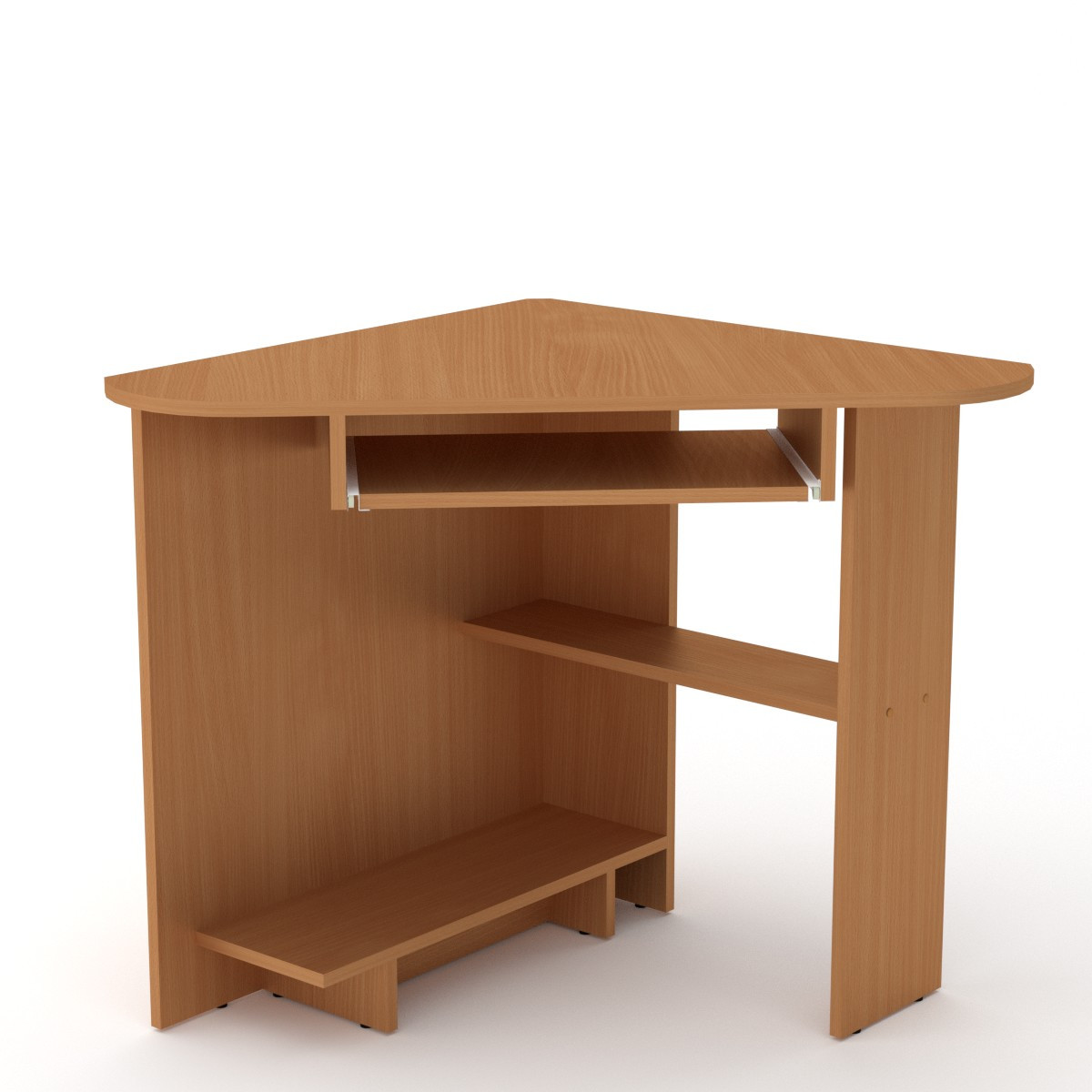 Стол письменный СУ-15 бук Компанит (76х76х74 см)