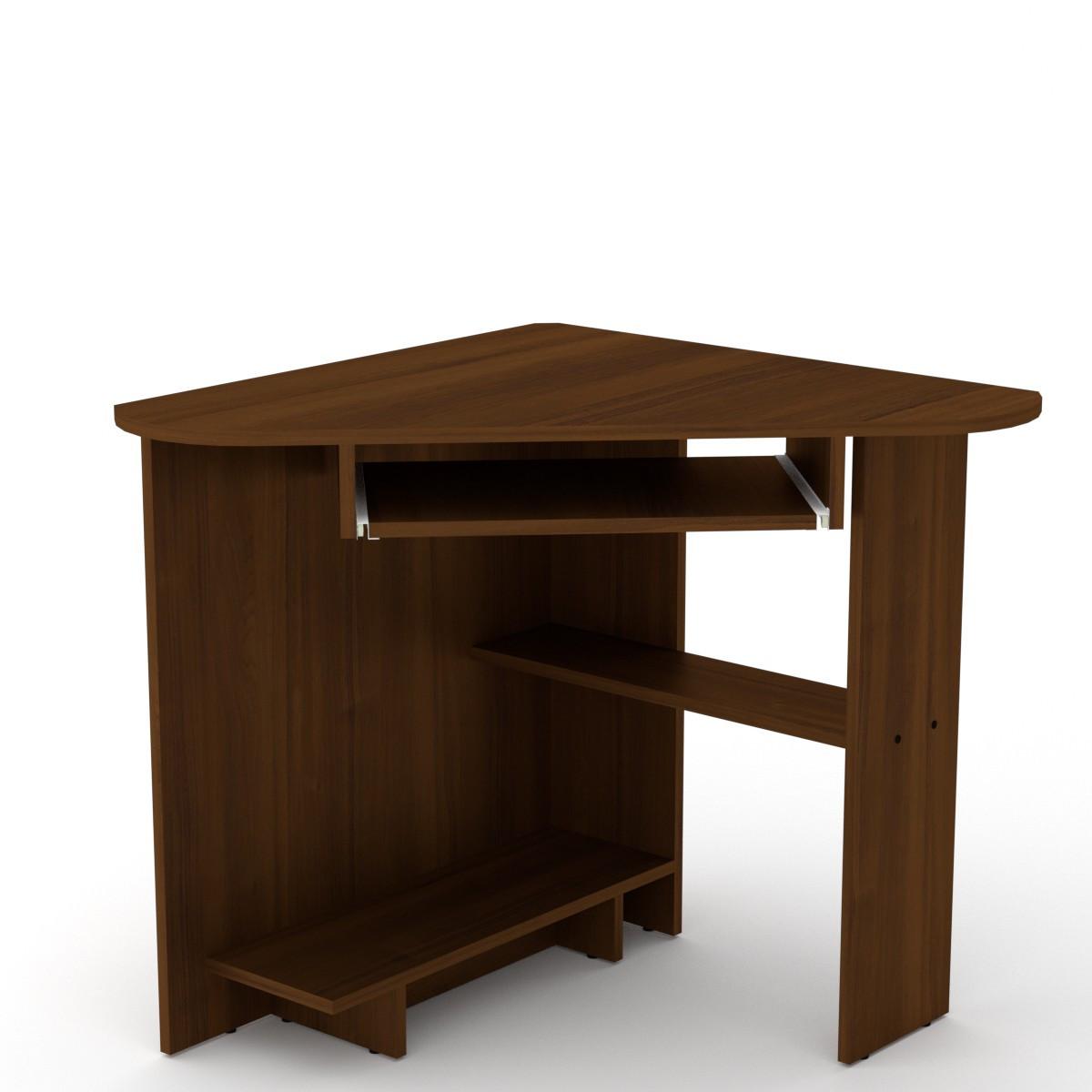 Стол письменный СУ-15 орех экко Компанит (76х76х74 см)