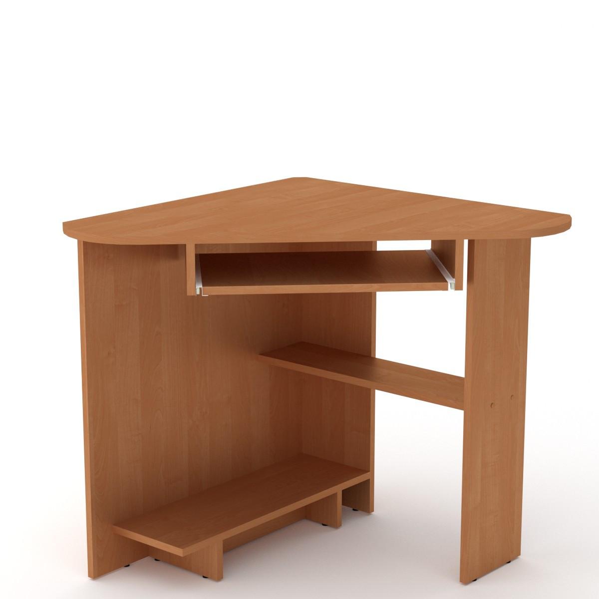Стол письменный СУ-15 ольха Компанит (76х76х74 см)