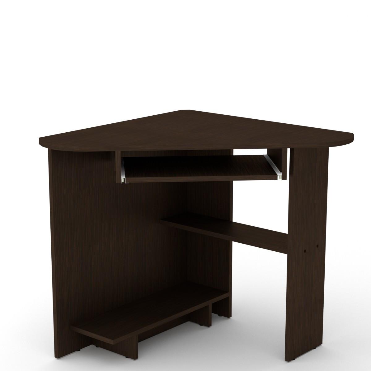 Стол письменный СУ-15 венге темный Компанит (76х76х74 см)