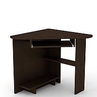 Стол письменный СУ-15 венге темный Компанит (76х76х74 см), фото 1