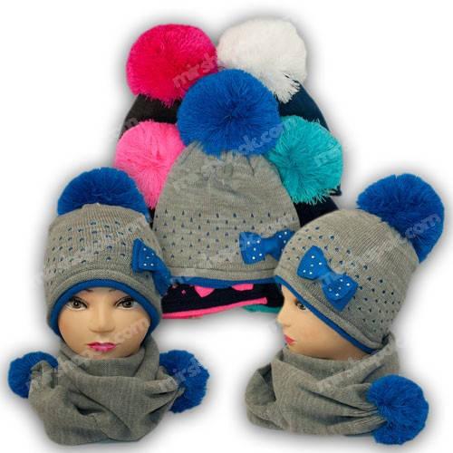 Комплект шапка и шарф, р. 52-54, подкладка флис, 7026