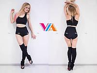 Топ VIA Sporty, шорты VIA Exotic Star для занятий pole dance, фитнесом и в тренажерном зале