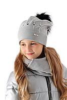 Красивая детская шапочка для девочки, MARIKA (Польша) 2161