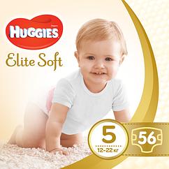 Подгузники Huggies Elite Soft Junior 5 (12-22 кг), 56 шт.