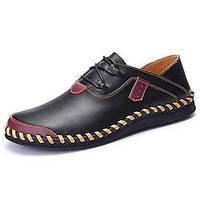 Черный Коричневый Красный-Мужской-Для занятий спортом-Ткань-На плоской подошве-Удобная обувь Баллок обувь-Туфли на шнуровке 05514305