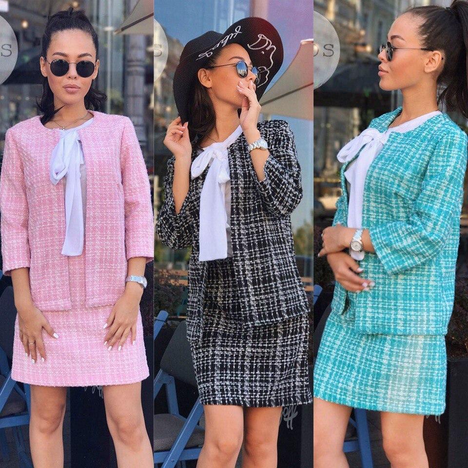 e329cedae80 Женский костюм двойка Chanel из Букле - купить по лучшей цене в ...