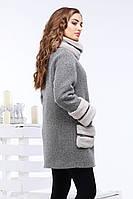 Стильное шерстяное пальто oversize 42-50р