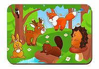 Деревянный вкладыш «Лесные животные»
