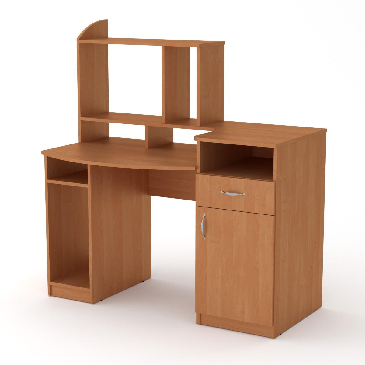 Стол компьютерный Комфорт-2 ольха Компанит (129х70х139 см)