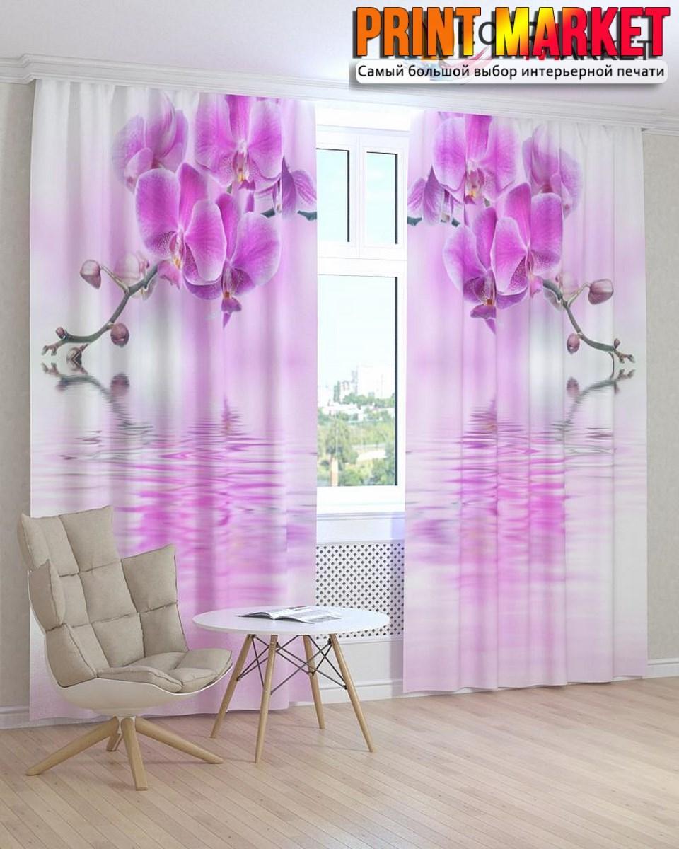 Фотошторы отражение орхидеи
