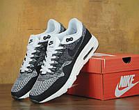 Мужские кроссовки Nike Air Max 87 Flyknit Grey White