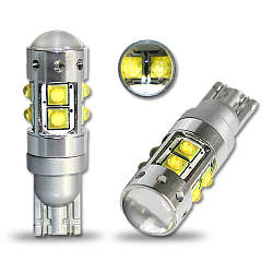 Светодиодная автолампа  T10(w5w)-50W (650Lm) Original CREE LED  + Линза)