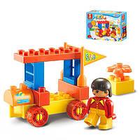 Детский конструктор SLUBAN M38-B6021, машинка. фигурка, 12 деталей