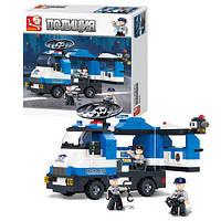 Детский конструктор SLUBAN M38-B0187, полиция, машинка, фигурки 3шт, 265 деталей