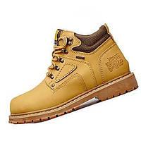 Для мужчин Ботинки Удобная обувь Синтетика Весна Осень Повседневные Для пешеходного туризма Удобная обувь Шнуровка На плоской подошве 05180157