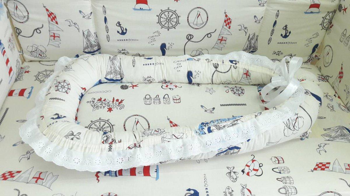 """Подушка позиционер для сна новорожденного """"Паруса"""" ТМ «VIALL»"""
