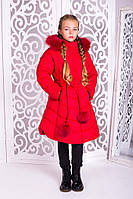 Красивая куртка, пальто зима для девочки  32, 34, 36, 38, 40 размер.Детская верхняя зимняя одежда!